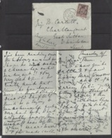 """1877-1920...FRANCE.. """" 1898 """"  .25c ENVERLOPE AND LETTER...POSTAL HISTORY... - Marcophilie (Lettres)"""
