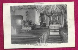 14/ CALVADOS..MONTCHAUVET. L'Eglise Parée Pour La Visite De Mgr Lemonnier, Evêque De Bayeux Et Lisieux ( 31 Juillet 1927 - France