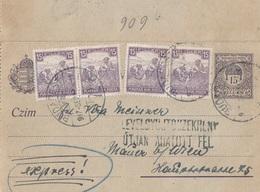 UNGARN EXPRESS ROHRPOST 1917 - 15 F Ganzsache + 4 X 15 F Frankatur, Gel.v. Budapest > Mauer Bei Wien - Briefe U. Dokumente