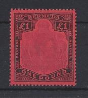 BERMUDA....KING GEORGE VI.(1936-52)....£1...SG121d.....(CAT £55..)..MH - Bermudes