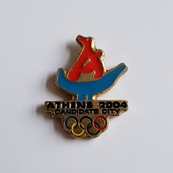 OLYMPIC BID   CANDIDATE  CITY 2004. ATHENS  BROCHE INSIGNE  PIN   BADGE DISTINTIVO - Olympische Spiele