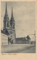 JUGOSLAWIEN 1923 - 3 Fach MIF Auf Ak ZAGREB STOLNA CRKVA - Briefe U. Dokumente