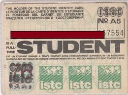 INT.STUDENT IDENTY CARD - Historische Dokumente