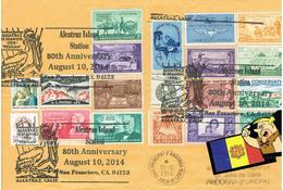 SOBRE CIRCULAT USA-ANDORRA 2014 Espectacular ANDORRE - Lettres & Documents