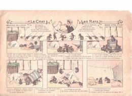 IMAGE D'EPINAL PELLERIN Ca 1900 : LE CHAT ET LES RATS - Documentos Antiguos