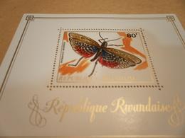 Miniature Sheet Perf Moths Insects Rwanda - Rwanda