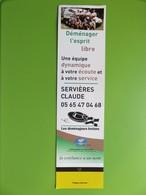 Marque-page - Les Déménageurs Bretons - Pages Jaunes - Servières Claude (Sébazac-Concourès) - Bookmarks
