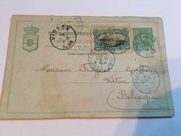 Dubbele Briefkaart Verzonden Stanley-Falls - Belgisch-Kongo