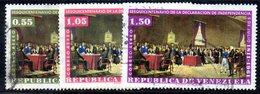 CI1360e - VENEZUELA 1962, Posta Aerea Yvert N. 752/754 Usata  Indipendenza - Venezuela