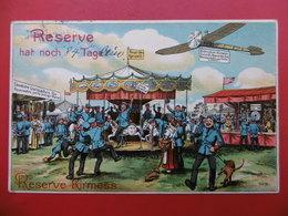 RESERVE HAT NOCH TAGEL MANEGE AVION SOLDATS STAND DE TIR ILLUSTRATEUR V.O. ST - Künstlerkarten