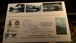 2013 COMO AVIAZIONE TRASPORTO CON IDROVOLANTE - FIRMA PILOTI - Aerei