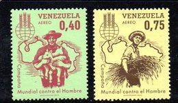 CI1280 - VENEZUELA 1963, Posta Aerea Yvert N. 784/785  ***  Fame - Venezuela