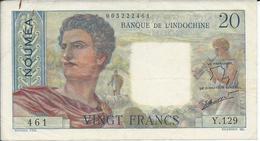 NOUVELLE CALEDONIE   20  Francs   Nd(1963)   -- TTB -- - Banknotes
