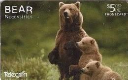 TARJETA TELEFONICA DE NUEVA ZELANDA, Grizzly Bear. NZ-C-082A. (031) - Tarjetas Telefónicas
