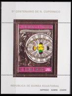 1974Guinea Equatorial 355/B99goldNicolaus Copernicus - Space