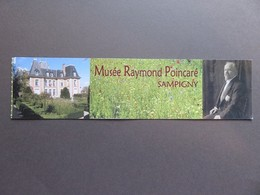 Marque-page - Musée Raymond Poincaré - Sampigny (Meuse) - Photo Du Musée Et Portrait - Segnalibri