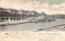 AUTRICHE Austria WIEN Vienne Stadtbahn Station Augustenbrücke 1901 - Altri