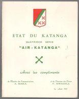 KATANGA - AIR KATANGA  NON DENTELE - PRESENTOIR POSTES -  PL4 - Katanga