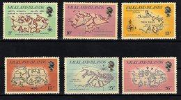 Falkland Islands, 1981, Maps, Mint Hinged - Falkland Islands
