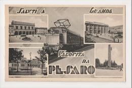 J-315 Pesaro Italy Saluti A Grande Velocita Train Vintage Postcard - Italia