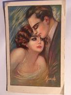 Cpa, Fantaisie, Couple, Illustrateur, édition Dell' Anna E Gasparini, écrite - Illustrateurs & Photographes