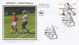 FDC 2019 - Sport Couleur Passion - Football - 1er Jour Le 18.05.2019 à Paris - 2010-....