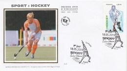 FDC 2019 - Sport Couleur Passion - Hockey - 1er Jour Le 18.05.2019 à Paris - FDC