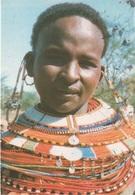 Cartolina Dalla Tanzania (SAMBURU WOMAN) - Per Ponzone 1988 (vedi Foto) - Tanzania