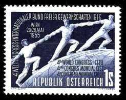 ÖSTERREICH 1955 Nr 1018 Postfrisch S894A6A - 1945-60 Ungebraucht