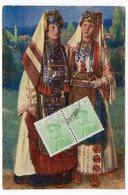 1913 SERBIA, BELGRADE TO ANTWERPEN, ANVERS, BELGIUM, GIRLS IN NATIONAL COSTUMES, ILLUSTRATED POSTCARD, USED - Serbia