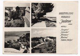 1957 YUGOSLAVIA, SLOVENIA,UMAG, HOTELS, ILLUSTRATED POSTCARD, USED - Slovenia