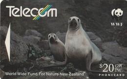 TARJETA TELEFONICA DE NUEVA ZELANDA, Hooker's Sea Lion (Reverse A). NZ-G-064A. (033) - Tarjetas Telefónicas