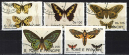 S. TOME' E PRINCIPE - 1992 - FARFALLE - BUTTERFLIES - USATO - St. Thomas & Prince