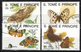 S. TOME' E PRINCIPE - 1991 - Butterflies - USATI - St. Thomas & Prince