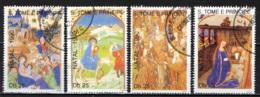 S. TOME' E PRINCIPE - 1990 - CHRISTMAS - NATALE - PAINTINGS - USATI - St. Thomas & Prince
