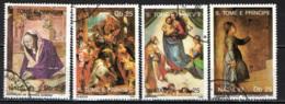 S. TOME' E PRINCIPE - 1989 - CHRISTMAS - NATALE - PAINTINGS - USATI - St. Thomas & Prince