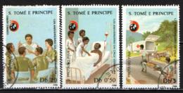 S. TOME' E PRINCIPE - 1988 - Intl. Red Cross, 125th Anniv - USATI - St. Thomas & Prince