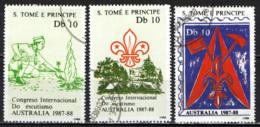 S. TOME' E PRINCIPE - 1988 - Intl. Boy Scout Jamboree, Australia - USATI - St. Thomas & Prince