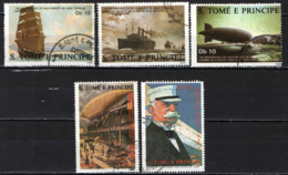 S. TOME' E PRINCIPE - 1988 - Ferdinand Von Zeppelin (1838-1917) - USATI - St. Thomas & Prince
