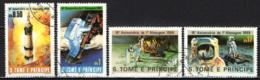 S. TOME' E PRINCIPE - 1980 - 10° ANNIVERSARIO DELL'ALLUNAGGIO NEL 1969 - USATI - St. Thomas & Prince