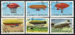 S. TOME' E PRINCIPE - 1979 - STORIA DELL'AVIAZIONE: SERIE DIRIGIBILI - USATI - St. Thomas & Prince