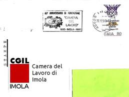 ITALIA - 1980 IMOLA (BO) 80° Fondazione Camera Del Lavoro - Annullo A Targhetta - Organizzazioni