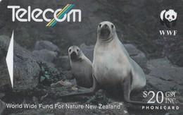 TARJETA TELEFONICA DE NUEVA ZELANDA, Hooker's Sea Lion (Reverse B). NZ-G-064C. (034) - Tarjetas Telefónicas