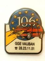 Pin's PEUGEOT 106 - GGE VAUBAN - Peugeot