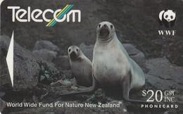 TARJETA TELEFONICA DE NUEVA ZELANDA, Hooker's Sea Lion (Reverse C). NZ-G-064E. (032) - Tarjetas Telefónicas