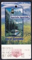 Bayerische Zugspitzbahn 2000 / Zugspitze / Top Of Germany / Railway, Cable Car / Ticket - Ferrovie