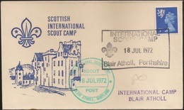 Scotland Comemorative Cover 1972 - Blair Atholl Scottish International Camp - Jamboree - Scouting - Scoutisme - Scout - Covers & Documents