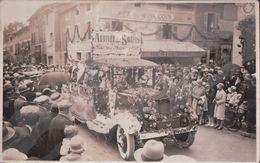 CARTE PHOTO Fête Des Roses En 1929 Arrivée Des Pahis CAFE Du BON COIN - Evian-les-Bains
