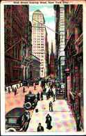 4357) Cartolina Di New York- WALL STREET LOOKING WEST-VIAGGIATA - NY - New York