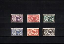 New Caledonia 1938/1940 Airmail Set MH / Postfrisch Mit Falz - Gebraucht